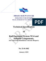 Technical Specifications for Vossloh Clip W14