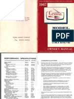 1967 Cessna-182 and Skylane Owners Manual-Email