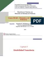 EE60 - Clase 9 - Estabilidad Transitoria - Controlador Del Sistema de Excitación (FINAL)