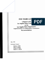 Five Years Later - Christopher Commission