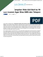 Mengubah Tampilan Web GUI Bolt Ke Web GUI Huawei Agar Bisa SMS Telepon