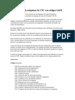 Programación de Máquinas de CNC Con Códigos G y M