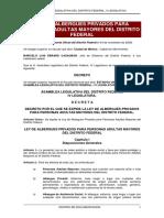Ley de Albergues Para Adultos Mayores Df Marcador