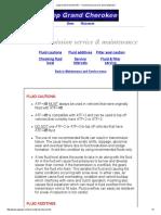 Jeep Grand Cherokee WJ - Transmission Service and Maintenace