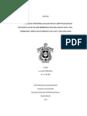 Contoh Skripsi Hukum Internasional