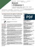 La Importancia de Aplicar Auditorías Administrativas o Diagnósticos Empresariales en Las MiPyMEs - Grupo Milenio