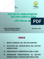 Ministro Agricultura- CESAR TIRADO