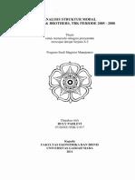 Analisis Struktur Modal PT. Bakrie & Brother, Tbk Periode 2005 - 2008