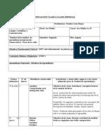 Planificación - Primero Medio - Unidad Lírica