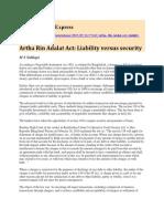 Artha Rin Adalat Act Liability Versus Security