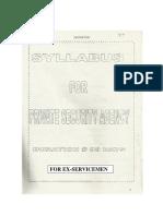 Training Syllabus PSA