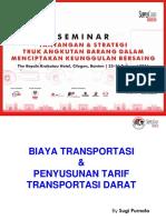 Standar Perhitungan Tarif Angkutan Barang Distribusi Dan Logistik Di Indonesia - Sugi Purnoto S.E. M.M