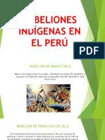 Rebeliones Indígenas en El Perú