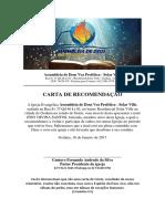 Carta de Recomendação - Voz Profetica