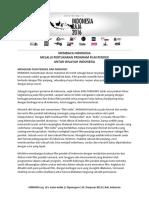 Press Release Indonesia Raja 2016 - Indonesia