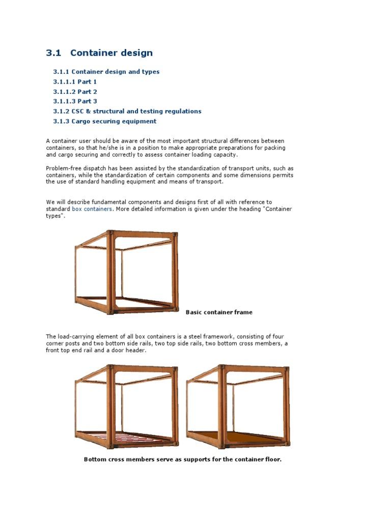 Container Handbook 1 Container Design | Fiberglass | Plywood