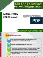 Tax Planning Dan Pengendalian Atas Penghasilan Usaha Dan Penghasilan Lainnya