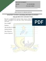 Employer Assessment Form