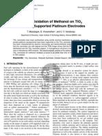 Maiyalagan,Electro-Oxidation of Methanol on TiO2 Nanotube Supported Pt Electrodes