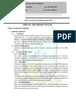 HMIE 401 WRL Student Report Format