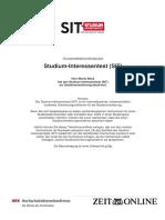 SIT - Studium-Interessentest - Zertifikat