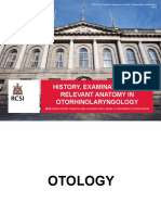 History and Examination in Ent