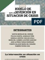 Exposicion Modelo de Intervención en Situacion de Crisis