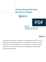 Centrifugal Fans Named After their Construction or Design