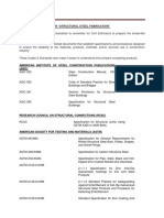 Codes Standards for Structural Steel Fabrication Erection
