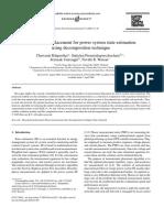 Elsivier 2005 Measurement Placement for Power System State Estimation Using Decomposition Technique