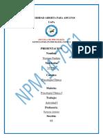 Psicologia Clinica I Actividad II