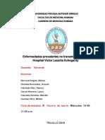 Enfermedades Prevalentes No Transmisibles en El Hospital Victor Lazarte Echegaray