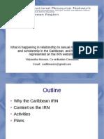 Vidya Kissoon's presentation on the work of IRN Caribbean