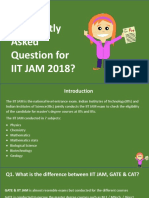 Most Frequently Asked Question for IIT JAM 2018?