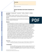 Open Gradient Magnetic Red Blood Cell Sorter Evaluation On