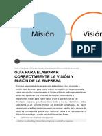 Guia Para Elaborar Correctamente La Mision y Vision de Una Empresa