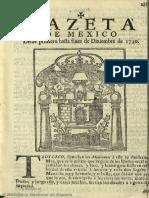 Gazeta de México (1728). 12-1730