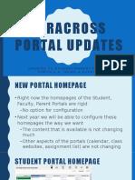veracross portal updates