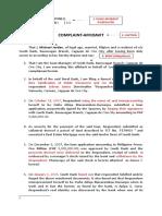 Complaint-Affidavit (Estafa Thru Falsification and Forgery)