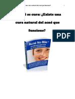 El acné se cura