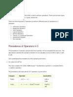 C Operators