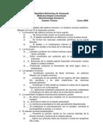 Examen Teórico Curso 2009-2010
