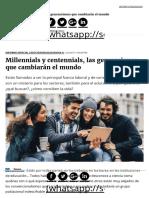 Millennials y Centennials, Las Generaciones Que Cambiarán El Mundo