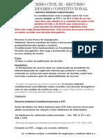 Processo Civil III - Recurso Ordinário Constitucional