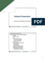 Slides Cálculo Financeiro-Capítulo 1