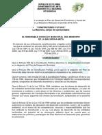 LA MACARENA PlanDesarrollo2016-2019
