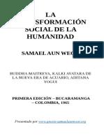 1965 Samael Aun Weor La Transformacion Social de La Humanidad
