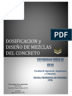 Dosificación y Diseño de Mezcla Del Concreto