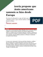 Nueva Teoría Propone Que Poblamiento Americano También Se Hizo Desde Europa
