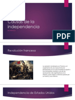 Causas de La Independencia